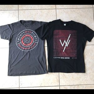 Other - Twenty One Pilots & Sleeping With Sirens Shirts